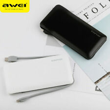 AWEI P51K Mobile Power 10000mAh Ultrathin Portable Power Bank 3 built in cables
