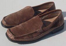 Rene By Ara Echt Mokassin Brown Suede Leather Women's Sz 7 (Fast Shipping)