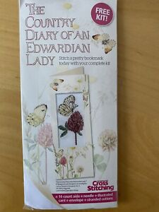 Country Diary Of An Edwardian Lady Cross Stitch Bookmark Kit With Chart
