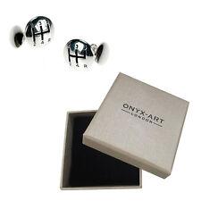 Mens Silver Plated Car Gear Box Cufflinks & Gift Box By Onyx Art