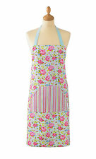 NEW LADIES COOKSMART FLORAL ROSES APRON COTTON TWILL KITCHEN COOKING