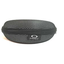 Oakley Eyeglass Case Zipper Closure Black Sunglasses Glasses Clamshell