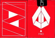 Mako Red Playing Cards Poker Size Deck USPCC Gemini Cardistry Limited New Sealed