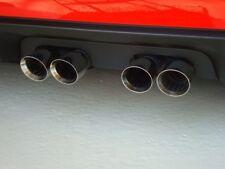 C6 Corvette 2005-2013 Solid Standard Aluminum Exhaust Plate - Black
