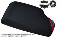 M STRIPES BLACK STITCH LEATHER ARMREST COVER FITS BMW 5 SERIES E60 E61 04-11