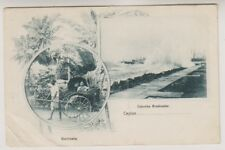 Ceylon postcard - Colombo Breakwater - P/U 1906