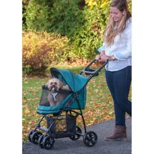 Happy Trails Lite NO-ZIP Pet Stroller Pine Green Dog Cat Bird Pet Supplies New