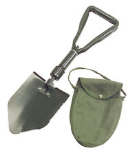 TEKTON Folding Survival Camping Shovel W. Storage Pouch/Case Military Style-New