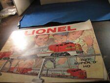 1960 Lionel  027  -- Super O  and HO  color brochure