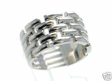 Solid  925 Sterling Silver Woven Design Band Ring Size-5 '