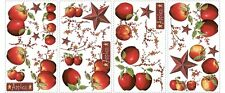 40 New COUNTRY APPLES STARS & BERRIES WALL DECALS Stickers Kitchen Decorations