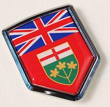 Ontario Canada Flag Car Chrome Emblem Decal Sticker