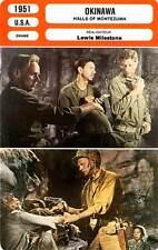 FICHE CINEMA : OKINAWA Widmark,Palance,Gardiner,Milestone1951 Halls of Montezuma