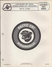 1973 Arctic Cat Snowmobile Lynx 292Al, Engine T4B292S1A Parts Manual(267)