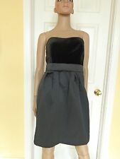 BANANA REPUBLIC black velvet party dress size 8