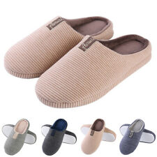 Aerusi Women Men Winter Warm Memory Foam Anti-Slip Plush Slippers House Shoes US