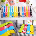 Cute Silicone Cartoon Travel Luggage Tags Suitcase Baggage Label Name Address