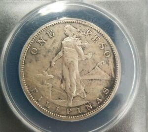 1909-S Philippines Peso AU50