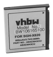Akku für Samsung SGH-U600, SGH-X820 800mAh 3.7V Li-Ion