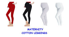Ladies Full Length Cotton Rich Maternity Pregnancy Leggings Over The Bump Fit
