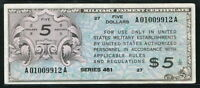 USA 1946, Series 461, Military Payment 5 Dollars, M6, VF