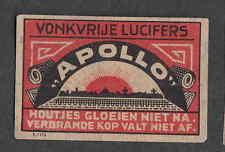 Ancienne   étiquette      allumettes  Hollande   NN125 Apollo