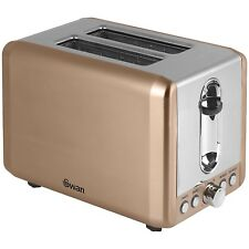 Swan 2 Slice Copper Bread Toaster Automatic Pop-Up Function Variable Browning