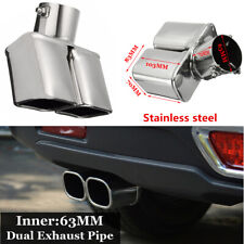 """Universal 2.5"""" 63mm Bent Cars Inlet Tail Rear Exhaust Pipe Tip Muffler Cover"""