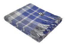 Plush Alpaca Wool Throw Blanket Plaid Scottish Pattern Soft Warm Peru