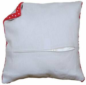 """Grey Cushion finishing Kit With Zipper Use with Vervaco kits 16x16"""" 100% cotton"""