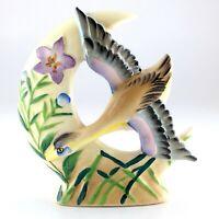Vintage Post War Japanese Export Ceramic Decor Flying Bird Made In Japan L421