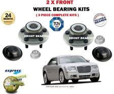 FOR CHRYSLER 300C 3.0 3.5 5.7 6.1 2005> 2x FRONT WHEEL BEARING KIT & HUB NUT SET