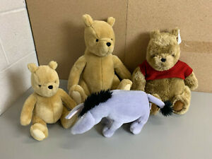 ~Lot of 4 GUND Stuffed Animal WINNIE the POOH Plush Collection - Vintage 1980's