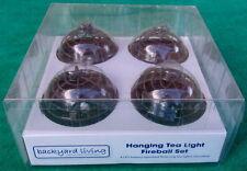 Cool! Backyard Living Flickering Hanging LED Tea Light Set(4) With Batteries!