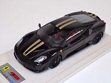 1/18 Looksmart MR Ferrari F430 Scuderia Nero DS Gold Stripe Black Wheels Alcant
