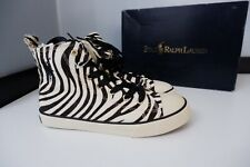 Ralph Lauren Polo NEW Baseball Boots Pony Hair Size 37 UK 4 BNIB Leopard Print