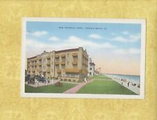 Va Virginia Beach 1931-59 Antique postcard Waverly Hotel Virginia & Old Cars