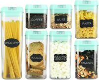 Airtight Food Storage Containers?7 pc Set - BPA Free Plastic Food Containers