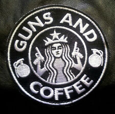 STARBUCKS TAD GUNS & COFFEE EMBROIDERED 3.5 inchHOOK PATCH