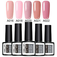 LEMOOC 5 Bottles 8ml Nagel Gellack Soak off Nail Art Nagellack Gel UV  Pink
