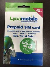 Lycamobile 23*2 Preloader sim card 10 packs