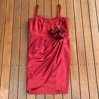 City Chic Plus Size S Red Dress Straps Fitted Boning Party Wedding Occasion