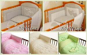2, 3,4,5 or 6pcs Nursery Bedding Set/Bumper to fit Cot or Cot Bed  S A L E !!!