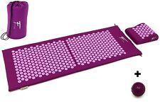 Kit d'acupression XL acupuncture massage relaxation sport 130x50x2,5cm viole/fus