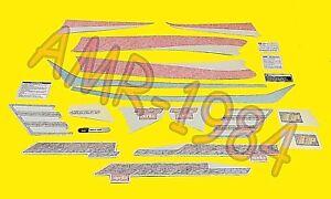 SERIE ADESIVI DECALCO APRILIA AREA 51 2000 ROSSO-NERO  AP8257724