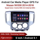 """9"""" Android 10.1 Car Stereo Media Player GPS Head Unit For Nissan NV200 2014-2018"""