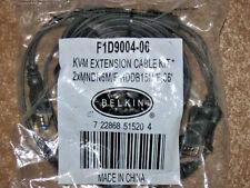 GENUINE BELKIN F1D9004-06 OMNIVIEW DUAL PORT KVM CABLE... NIB