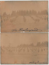 "Postcard pair of ""The Pines"" Langwarrin Melbourne Victoria sent to Moama NSW"