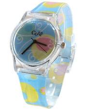 Core Designer Ragazze Orologio floreale blu cielo Cinturino MULTI-COLOUR quadrante analogico in plastica