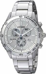 Citizen Eco-Drive Men's Chronograph Multi Dial Calendar 43mm Watch AT2129-58A